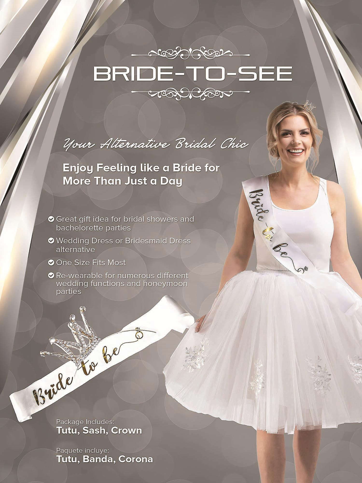 Bride-To-Be Bridal Shower Bachelorette Party 3 Pc Gift Set BTS103 White O/S
