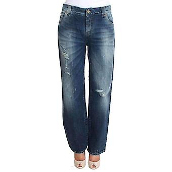 Galliano Blue Wash Cotton Stretch Relaxed Fit Jeans -- SIG3955717