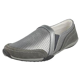 Ladies Down To Earth Leather Casual Shoes F80423