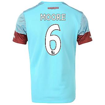 2015-16 West Ham Away Shirt (Moore 6) - Kids