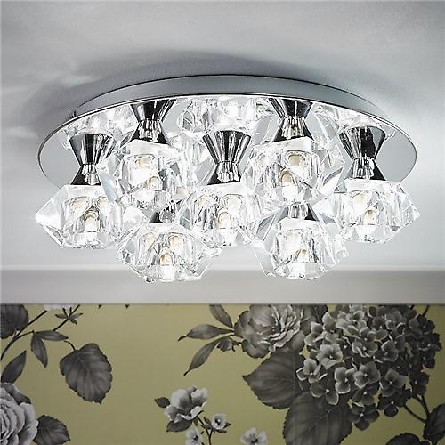 Endon ARIETTA-7PCH Arietta Modern 7 Light Ceiling Plate With Clear Glass Shades