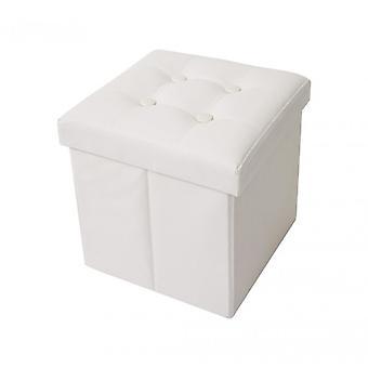 Rebecca Möbel Puff Stuhl White Würfel Design modernen Möbel-Lounge Raum