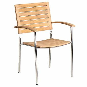 Alexander Rose Cologne Armchair with Roble Slats