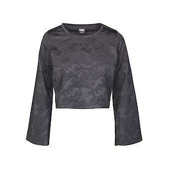 Urban Classics Women's Long sleeve shirt Short Jacquard Camo L/S
