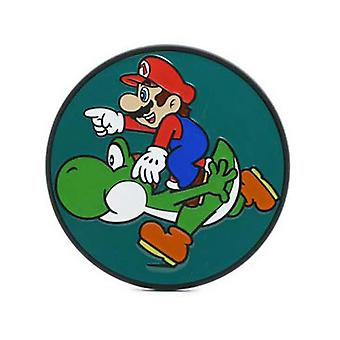 Nintendo Multicolor Mario Takes A Ride With Yoshi Belt Buckle