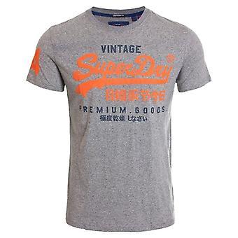 Superdry Premium Goods Duo Lite T-shirt Podium Mid Grey Grit