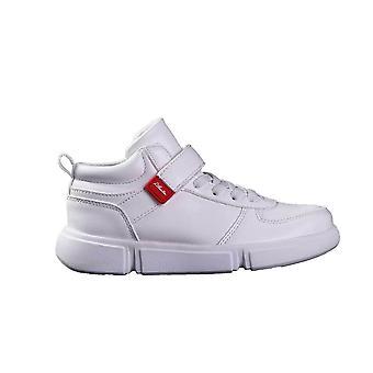 Human fly junior hi top sneakers white