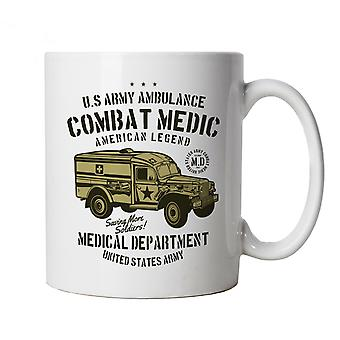 Combat Medic Ambulance Army Mug | Army Medic War Combat Warfare Soldier Forces Armed | Secret Santa Partner Miss Present Best Friend Mate | Military Cup Gift
