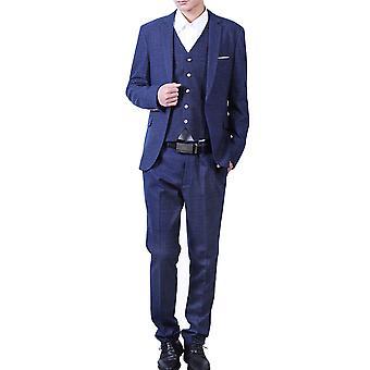 Allthemen mannen ' s suits 3-delige geruite banket Business Casual suits blazer & broek & vest