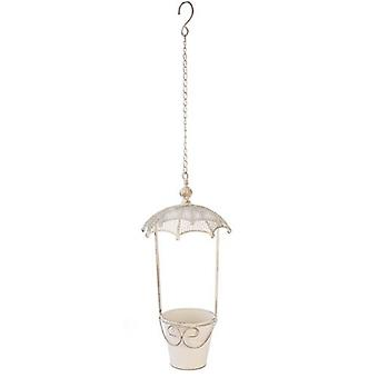 Brolly Top Hanging Cream Planter Extra Large
