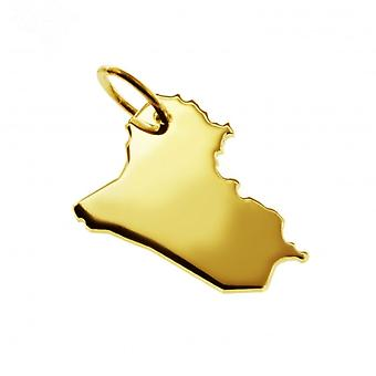 Pendant map chain pendant in gold yellow-gold in the form of IRAK