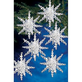 Holiday Beaded Ornament Kit Snow Cluster Bok 7282
