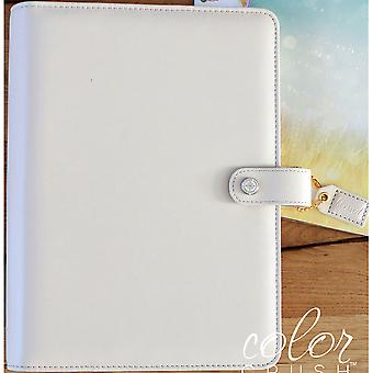 Couleur Crush A5 simili-cuir planificateur 6-Ring Binder 7.5 « X 10 »-naturel A5001-N