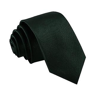 Dark Green Solid Check Slim Tie