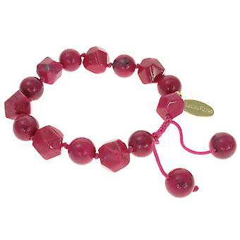 Lola Rose Hollie armbånd Ruby Pink magnesit sten