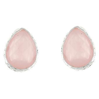 Klips på øredobber Store lett kremet fasetterte stein Tear Drop klippet øredobber