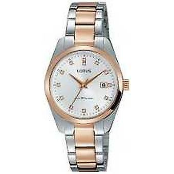 Lorus Womens Two Tone Stainless Steel Silver Dial RJ244BX9 Watch