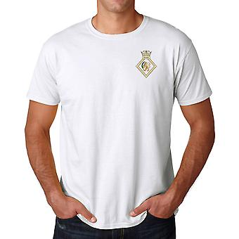 HMS Nelson Embroidered Logo - Official Royal Navy Cotton T Shirt