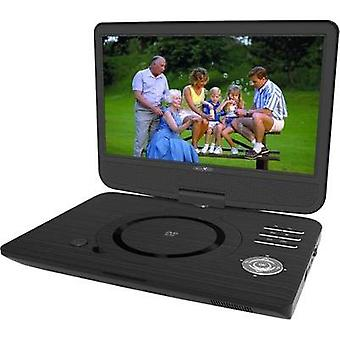 Portable DVD player 25.7 cm 10  Reflexion DVD1005 incl. 12V car power cable, Battery-powered Black