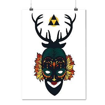 Matte or Glossy Poster with Face Mystic Mask Fashion | Wellcoda | *d1591