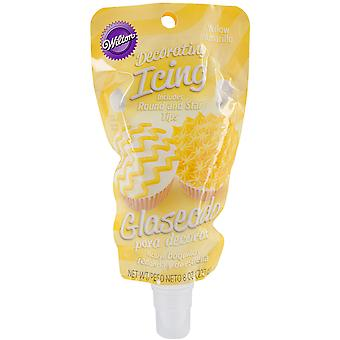 Icing 8oz Pouch W/Tips-Yellow W7040-190