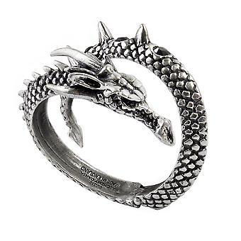 Alchemy Gothic Vis Visa Dragon Wrap Pewter Bracelet