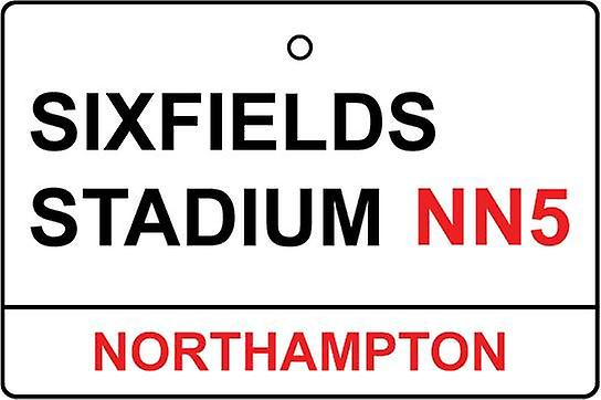 Northampton / Sixfields Stadium Street Sign Car Air Freshener