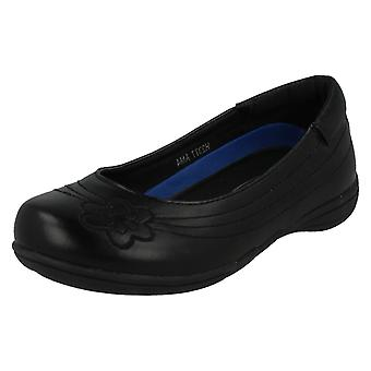 Girls Spot On Slip On School Shoes H2377