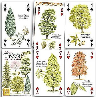 North American Trees set of 52 playing cards (+ jokers)    (hpc)
