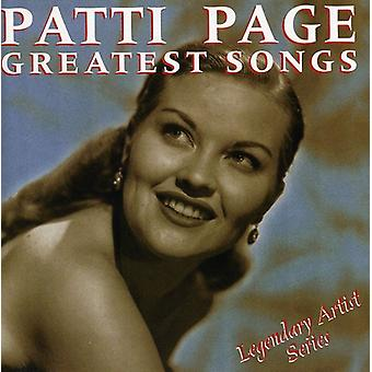 Patti Page - Greatest Songs [CD] USA import