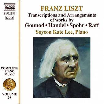 F. Liszt - Franz Liszt: Transcriptions and Arrangements of Works by Gounod, Handel, Spohr, Raff [CD] USA import