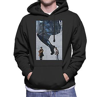 Run DMC In Front Of Woman Wall Mural Men's Hooded Sweatshirt