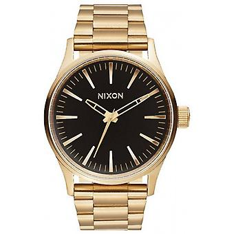 Nixon The Sentry 38 SS Watch - Gold/Black Sunray