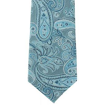 Michelsons of London Subtle Paisley Silk Tie - Teal