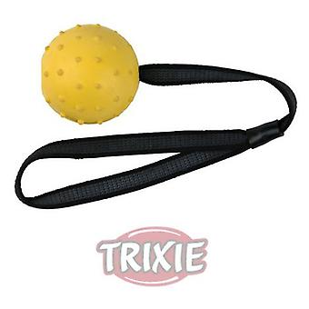 Trixie Natural Rubber Ball on a Nylon Strap 7 Cm. (Dogs , Toys & Sport , Balls)