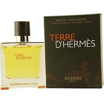 Terre D'Hermes by Hermes Pure Perfume Spray 75ml 2.5oz