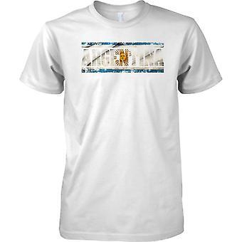 Efeito de bandeira nome Argentina Grunge Country - crianças T camisa