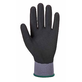sUw - DermiFlex Ultra Pro Grip Handschuh (6 Paar packen) grau/schwarz Medium