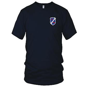 US Army - 33rd Airborne Engineer Battalion Embroidered Patch - Mens T Shirt