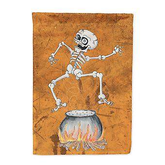Carolines Treasures  SB3013-FLAG-PARENT Skeleton jumping from Witches Caldron Ha