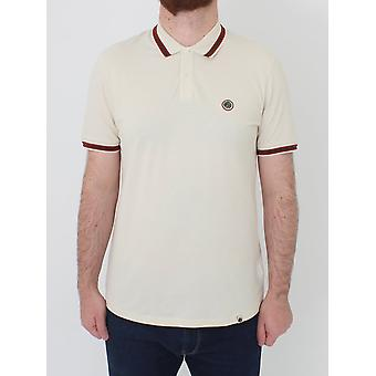 Pretty Green Bennett Tipped Polo - Stone