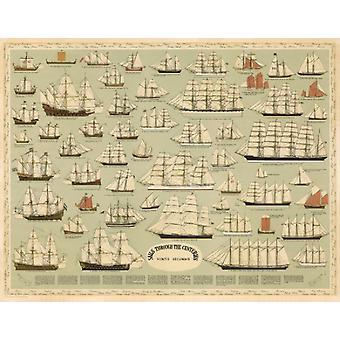 Sails Through the Centuries Poster Print (27 x 21)