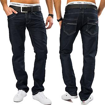 Men's jeans Nr. 1602 classic denim tapered leg Denim Blue pants five Pocket
