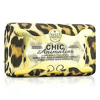 Nesti Dante Chic Animalier Natural Soap - Myrrh Ginger Tea & Patchouli - 250g/8.8oz