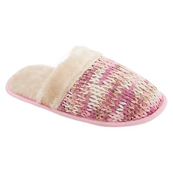 Slumberzzz Womens/Ladies Knitted Slip-On Slippers