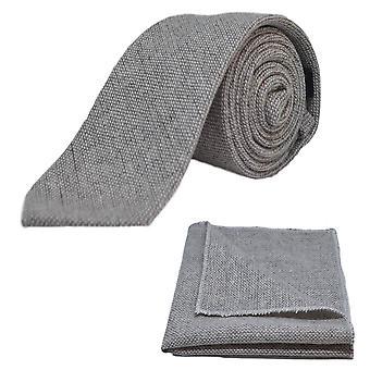 Highland tejido Stonewashed lazo gris ligero y conjunto Plaza de bolsillo