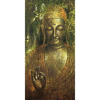 Buddah in Green I Poster Print by Wei Ying-Wu (20 x 40)