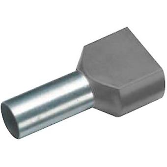 Twin ferrule 2 x 4 mm² x 12 mm Partially insulated Grey Cimco