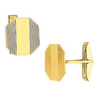 Mens Cuff Links in 14K Yellow Gold