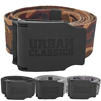 Urban classics - CANVAS Rubbered touch 120cm belt